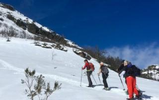 raquetas de nieve asturias