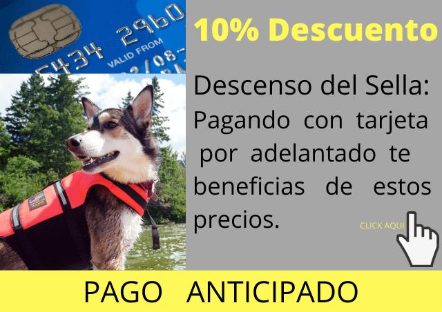 reserva online descenso del sella con perro
